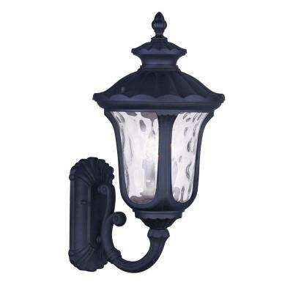 Providence Wall-Mount 3-Light Black Outdoor Incandescent Lantern