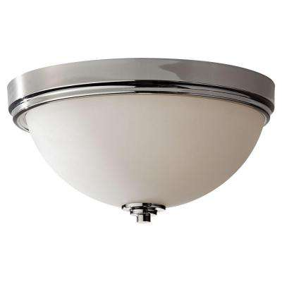 Malibu 3-Light Polished Nickel Indoor Flushmount