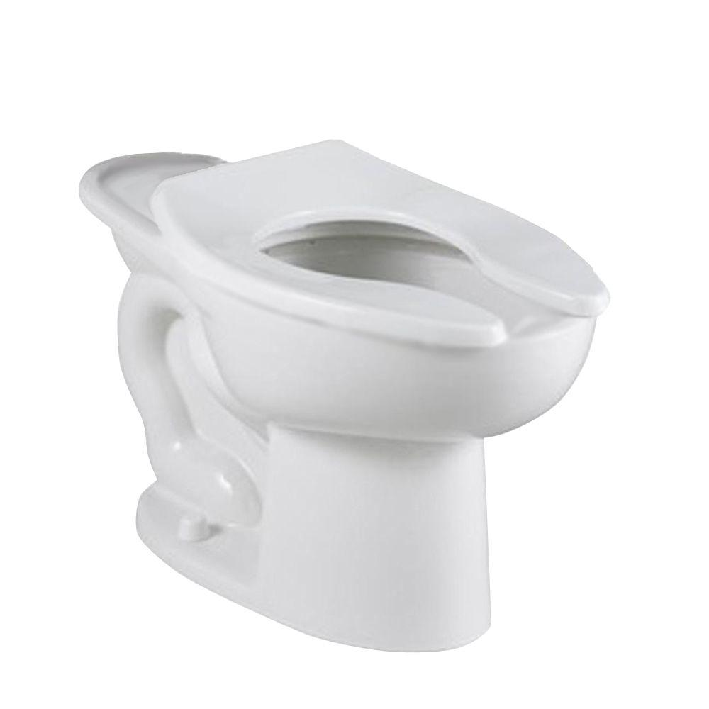 American Standard Madera FloWise 15 In High Back Spud Elongated Flush Valve Toilet Bowl Only White 2624001020