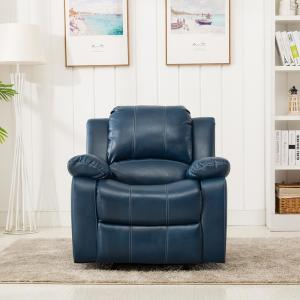 Fine Clifton Navy Blue Faux Leather Recliner 8070 10 The Home Depot Gmtry Best Dining Table And Chair Ideas Images Gmtryco