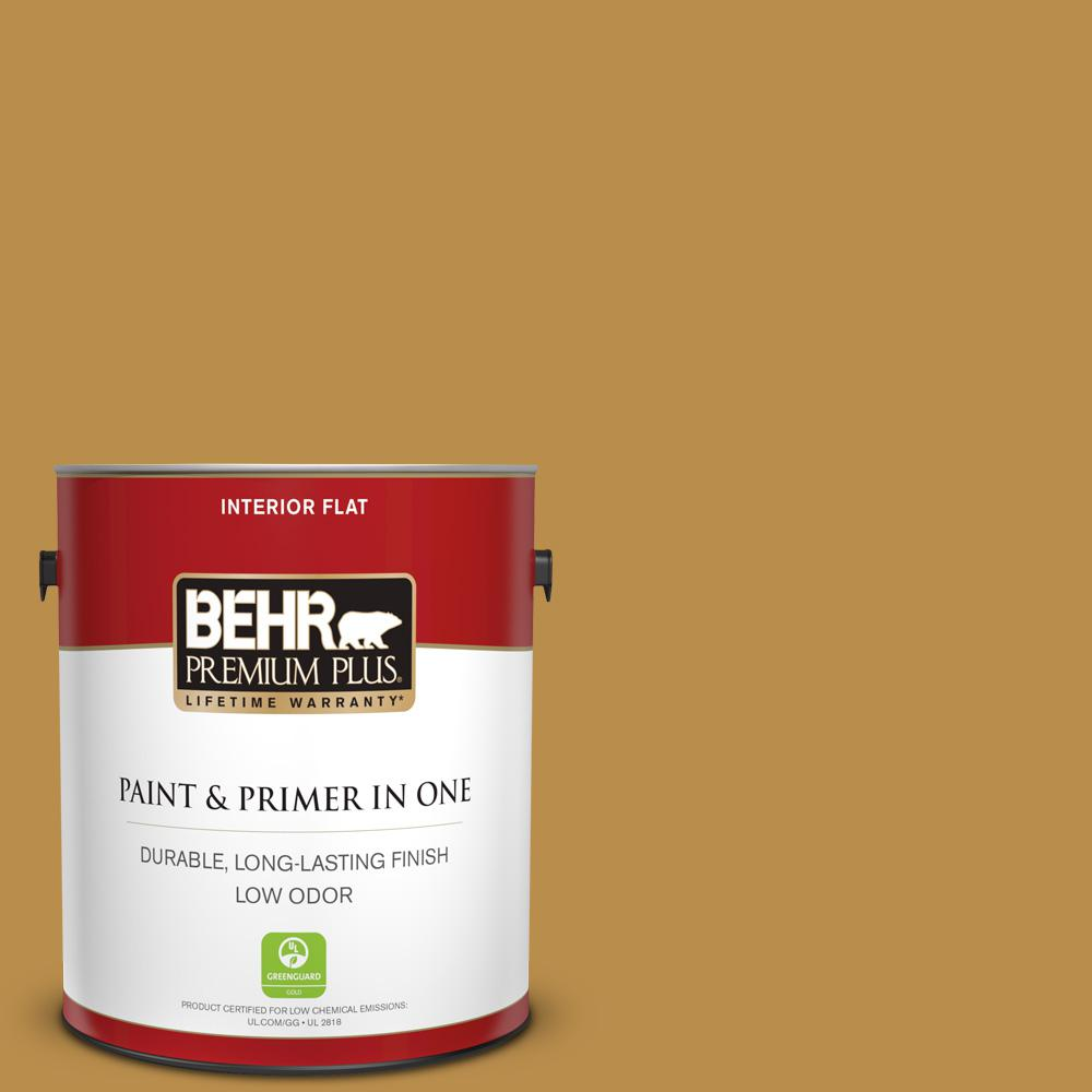 1 gal.  320D-6 Lion Mane Flat Low Odor Interior Paint and Primer in One 7e7166cdbb44f