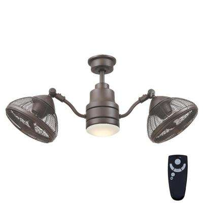 Home decorators collection ceiling fans lighting the home depot integrated led indooroutdoor espresso bronze ceiling fan with light kit aloadofball Image collections