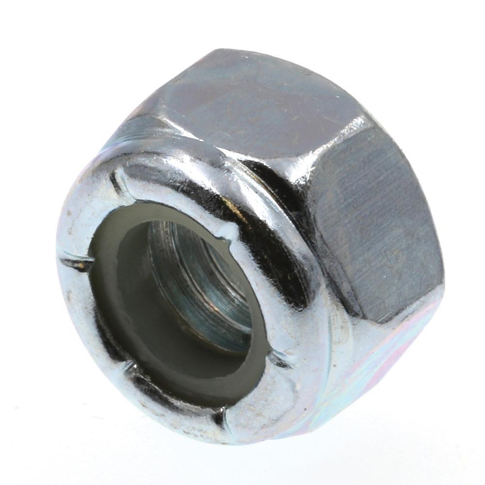 5/16 in.-18 Grade-2 Nylon Zinc Plated Steel Insert Lock Nuts (100-Pack)