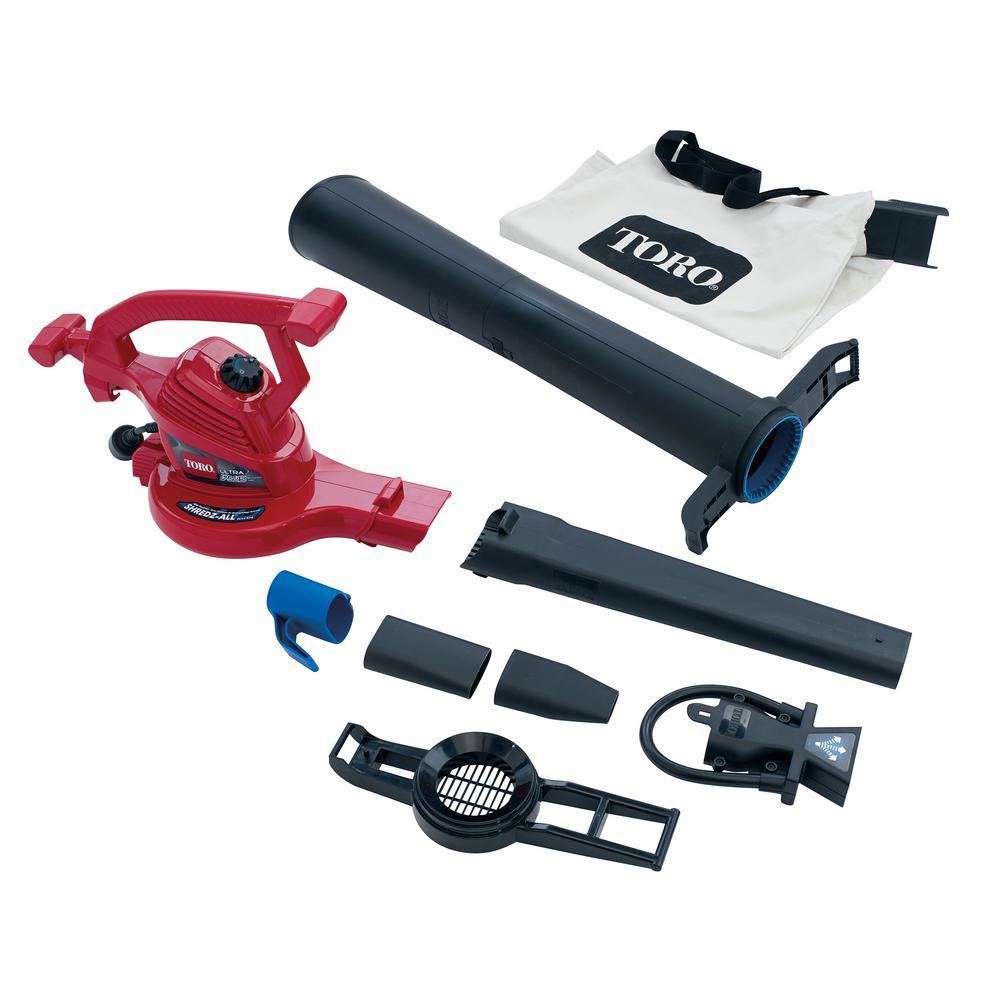 TORO Toro UltraPlus 250 MPH 350 CFM 12 Amp Electric Leaf Blower/Vacuum/Mulcher
