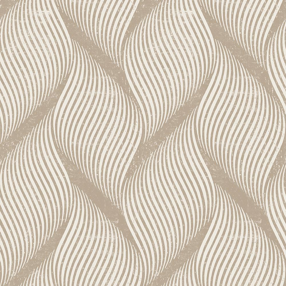 tempaper wave almond self-adhesive removable wallpaper-wa540 - the