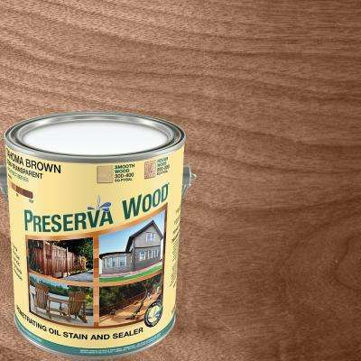 1 gal. 100 VOC Semi-Transparent Oil-Based Tahoma Brown Exterior Stain