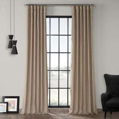 Flax Beige French Linen Curtain - 50 in. W x 84 in. L