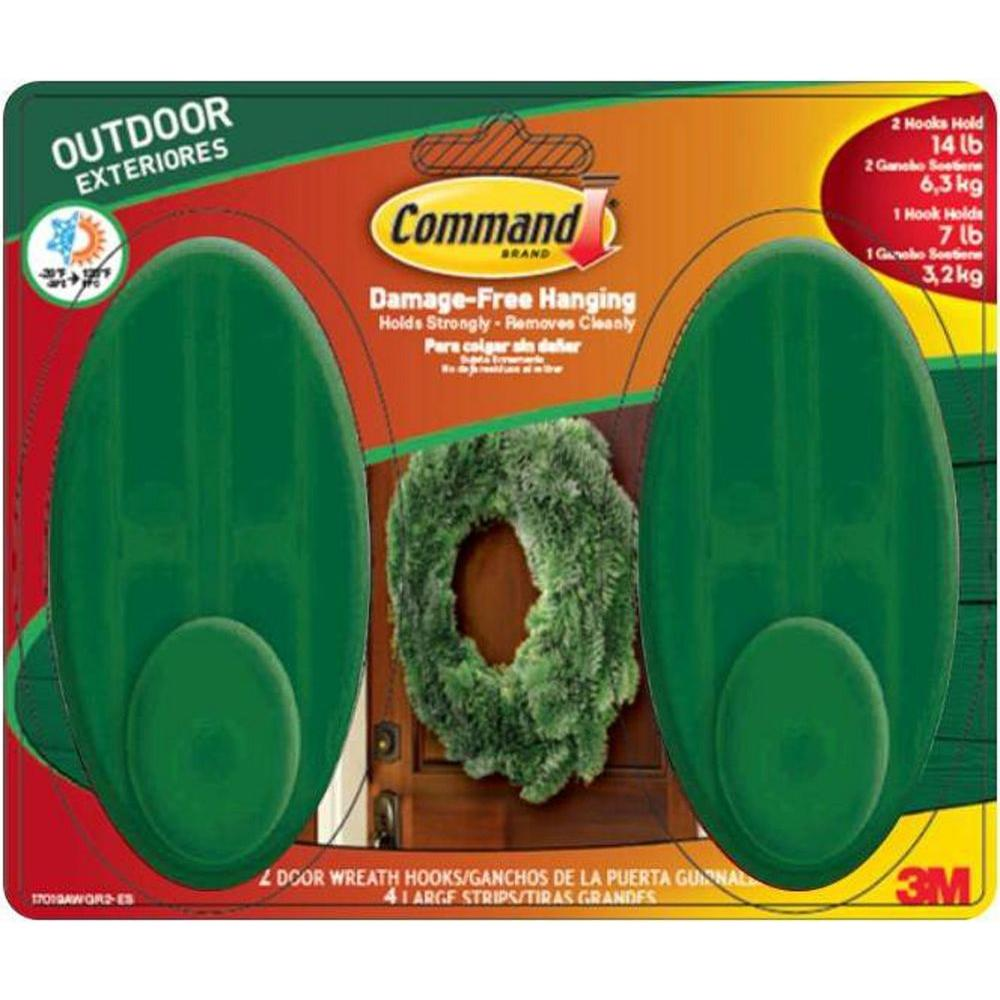 Command Large Outdoor Wreath Hook With Foam Strips 17019awgr2 Esb