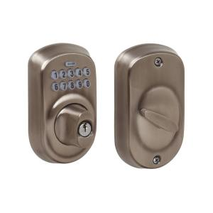 Schlage Plymouth Antique Pewter Keypad Electronic Door