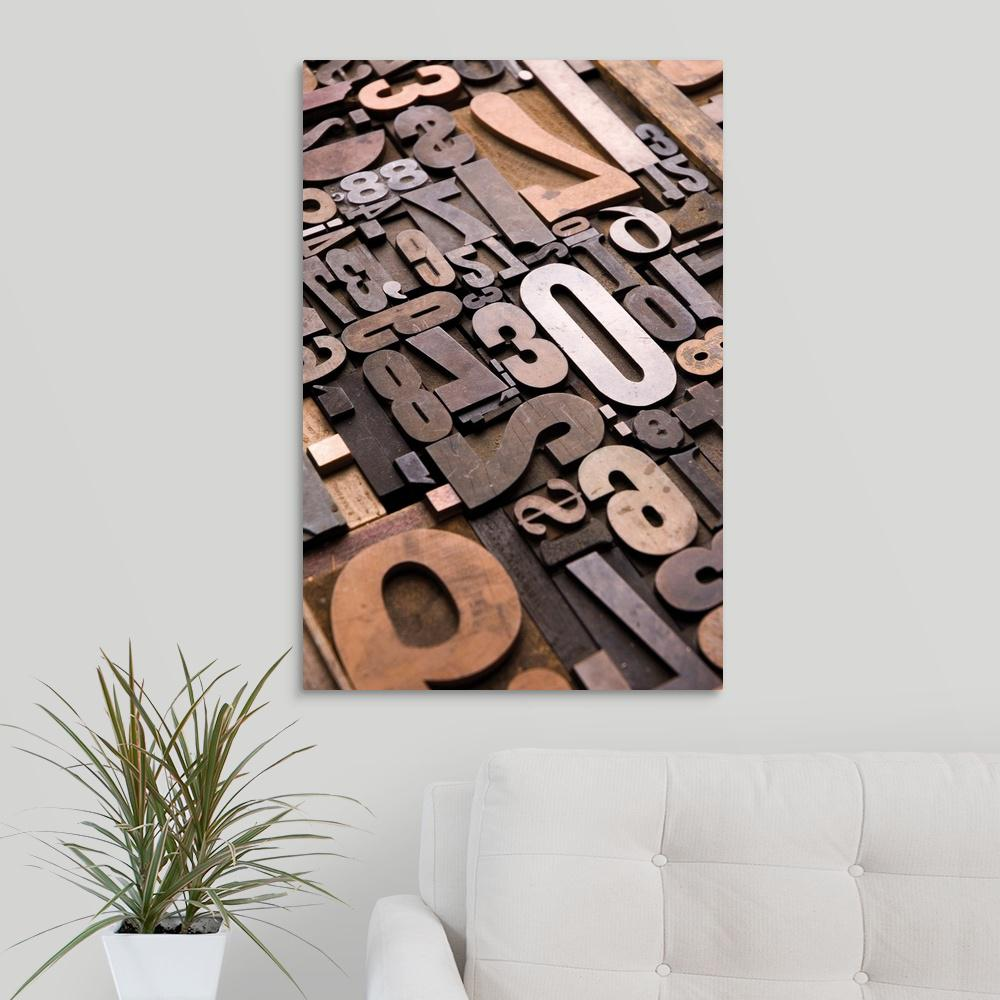 """Typography Bronze"" by Holli Conger Canvas Wall Art"