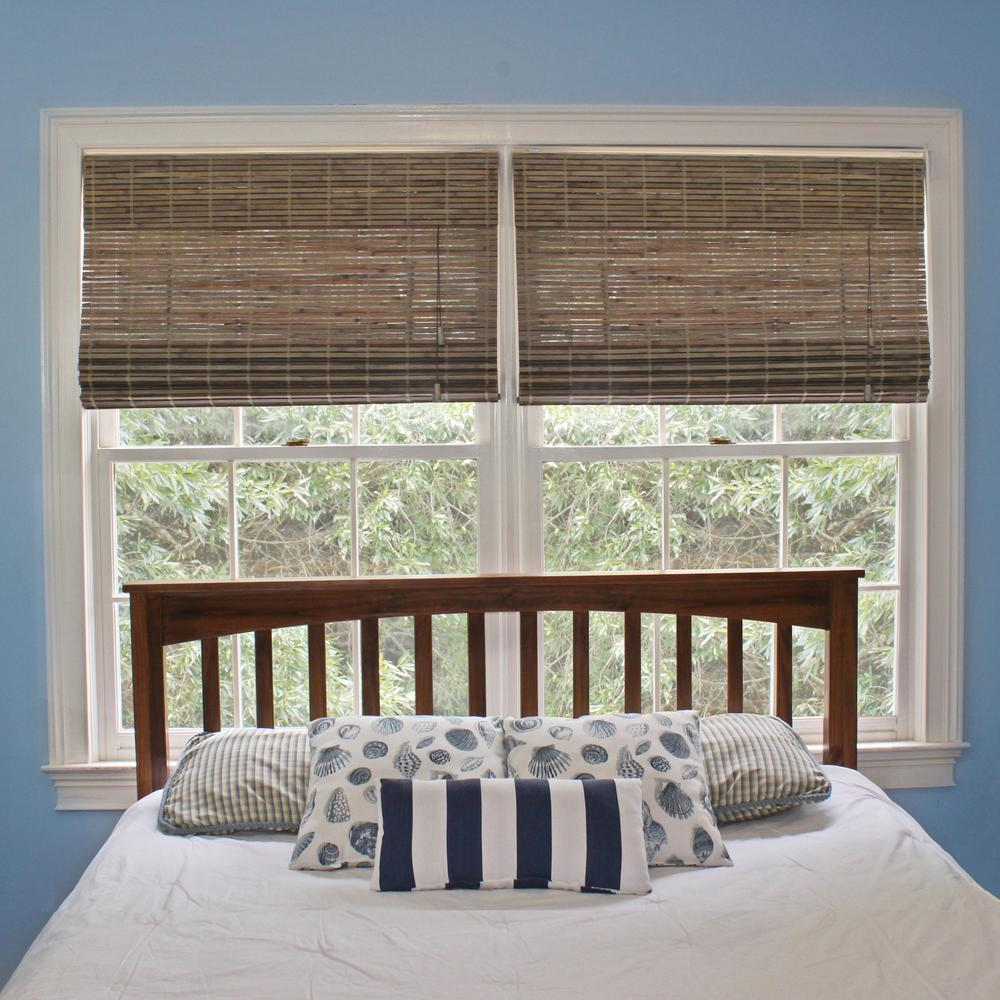 Home Decorators Collection Driftwood Flat Weave Bamboo Roman Shade 27 In W X 72 In L 0259527