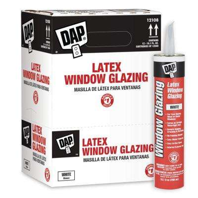 10.1 oz. White Latex Window Glazing (12-Pack)