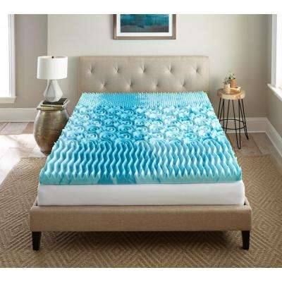 3 in. King Gel Memory Foam Mattress Topper