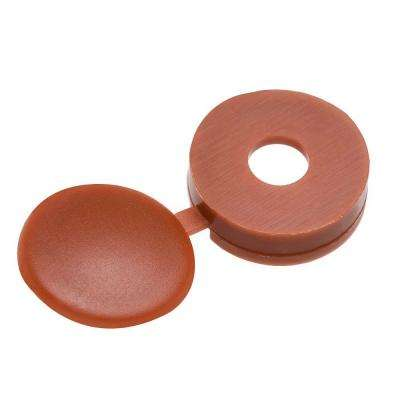 #8 Maroon Pan-Head Hinged Screw Cover (3-Pieces)
