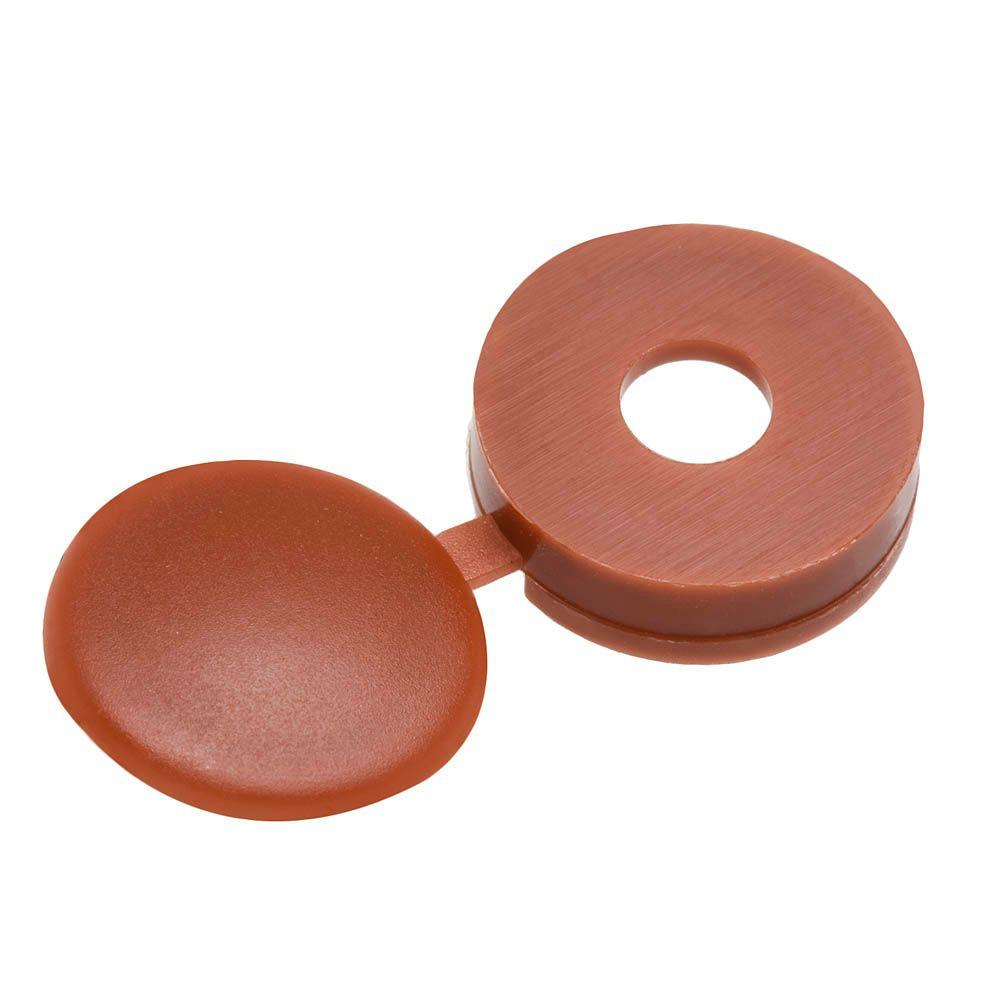 Everbilt #10 Maroon Hinged Screw Cover (3-Piece)