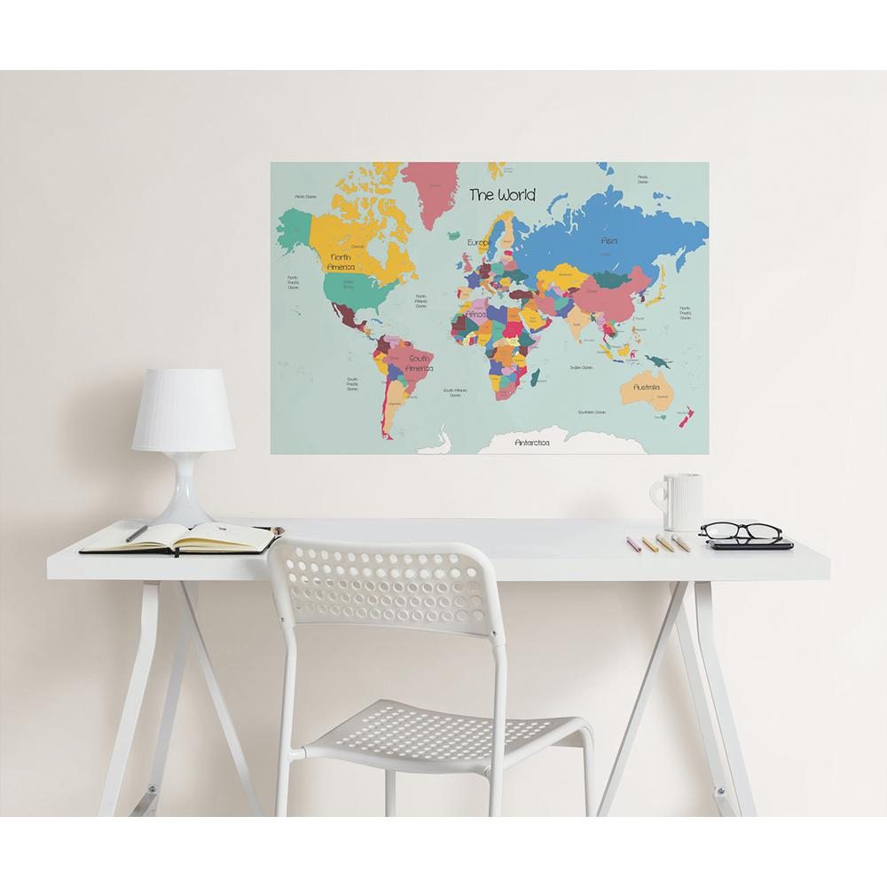 Wallpops 24 in x 36 in world map coloring wall decal wpk2200 the world map coloring wall decal gumiabroncs Images