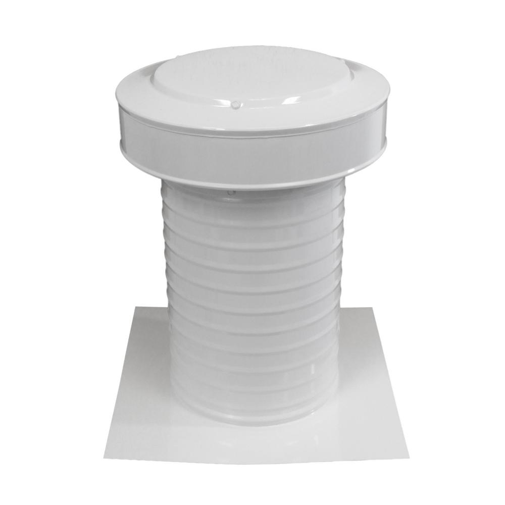 Active Ventilation 8 in. Dia Aluminum Keepa Static Vent for Flat Roofs in White