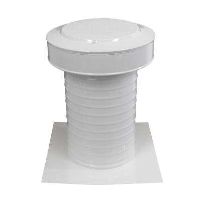 8 in. Dia Aluminum Keepa Static Vent for Flat Roofs in White