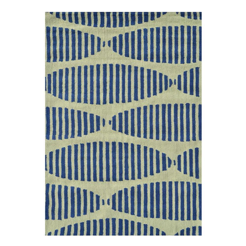 Filament Design Stamps Navy 5 ft. x 7 ft. Indoor Area Rug by Filament Design