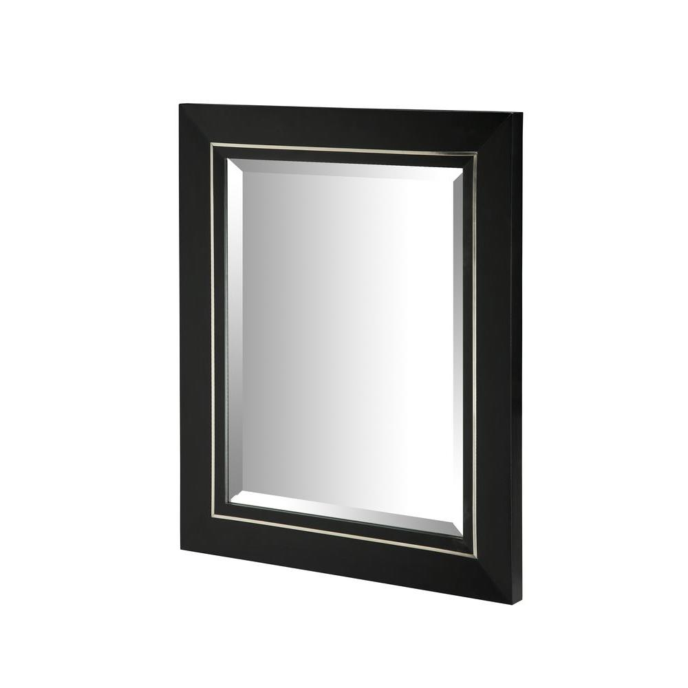 Ryvyr Manhattan 30 In X 25 Framed Wall Mirror Black