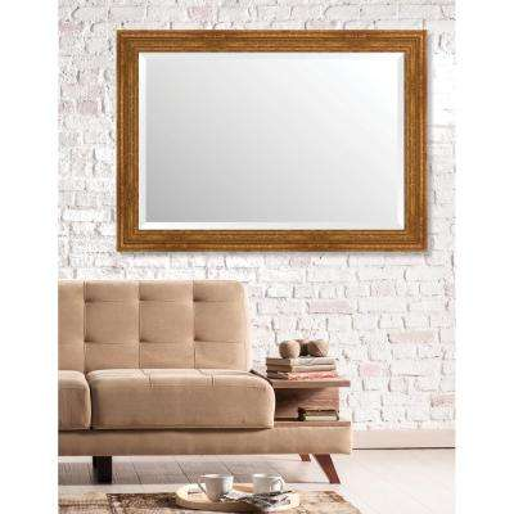 Langdon 29.625 in. x 41.625 in. European Wide Framed Bevel Mirror