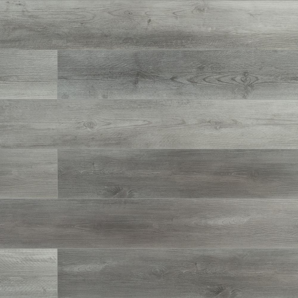 Pelican Gray 7 in. x 48 in. Rigid Core Luxury Vinyl Plank Flooring (23.77 sq. ft. / case)