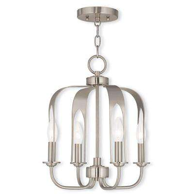 Addison 4-Light Brushed Nickel Mini Chandelier