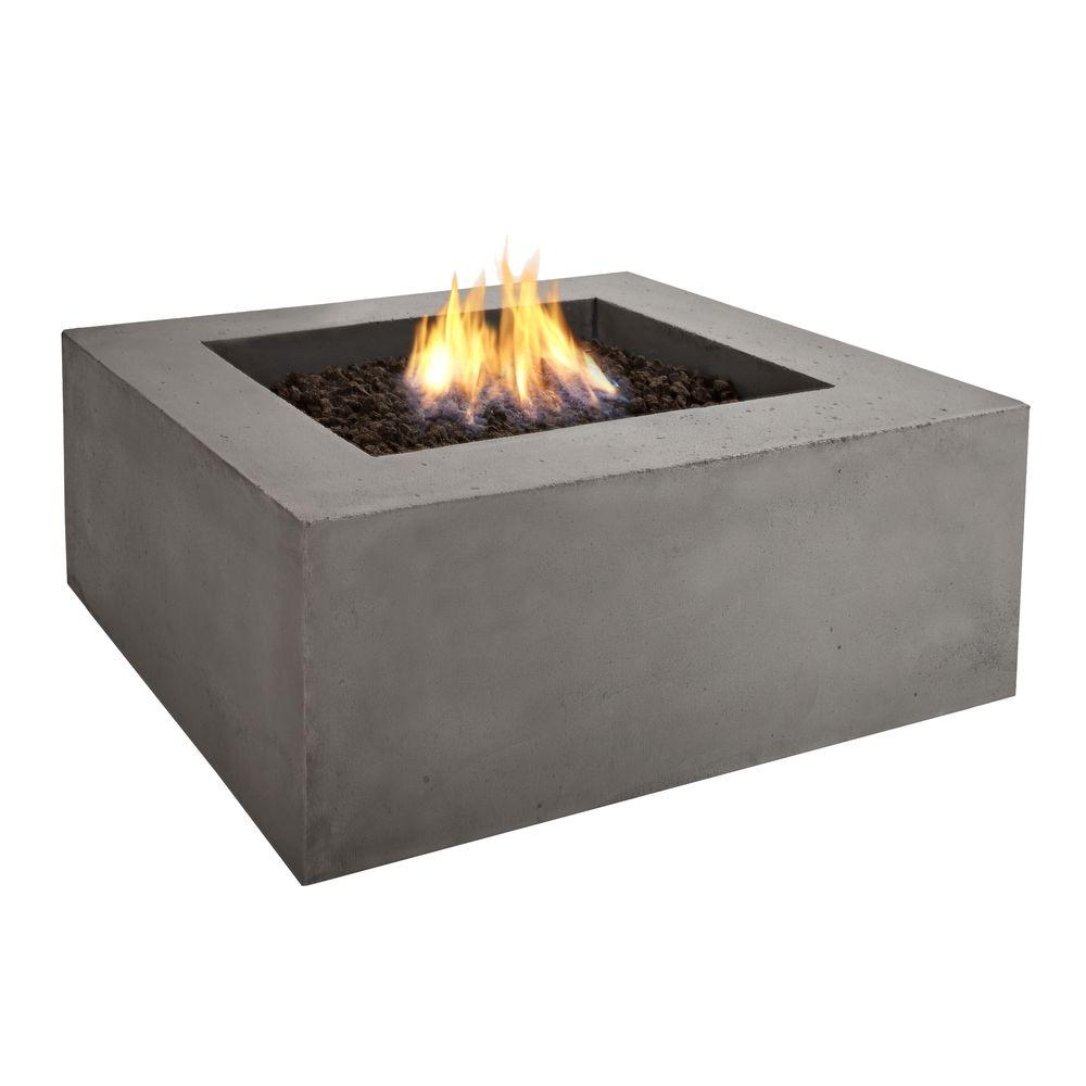 Real Flame Baltic 36 in. Square Glacier Gray Propane Gas Fire Pit-DISCONTINUED