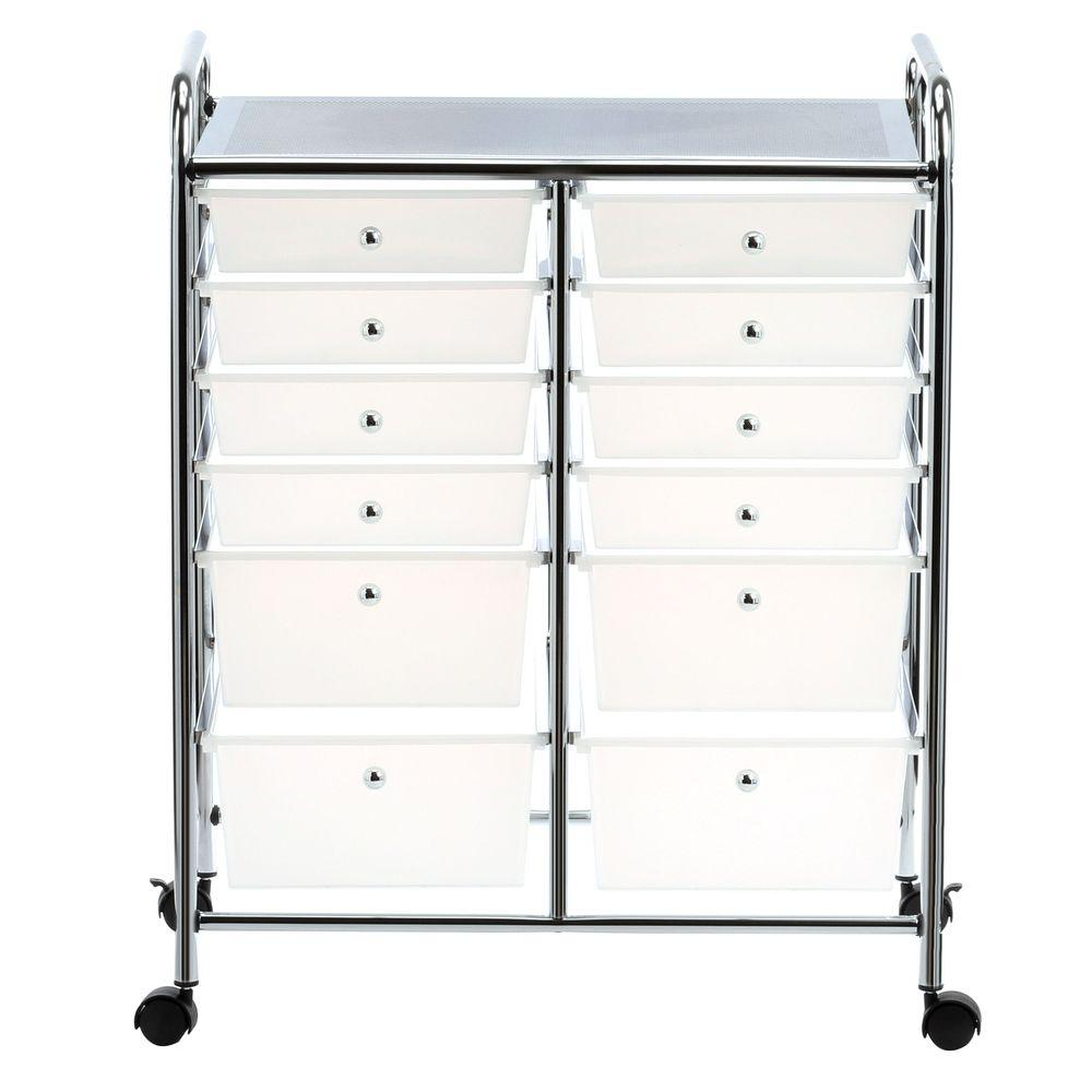 Wonderful Honey Can Do Rolling Storage Cart And Organizer With 12 Plastic  Drawers CRT 01683   The Home Depot