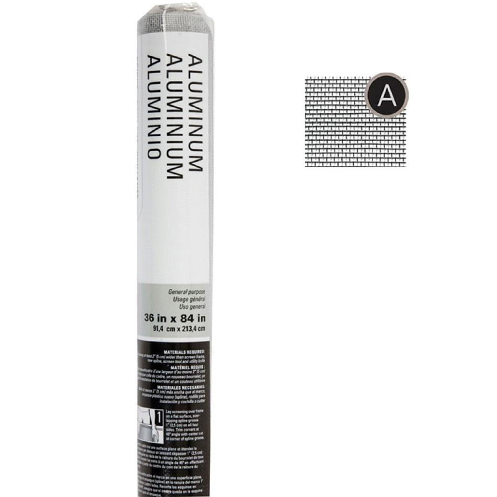 Saint-Gobain ADFORS 36 in. x 84 in. Bright Aluminum Insect Screen
