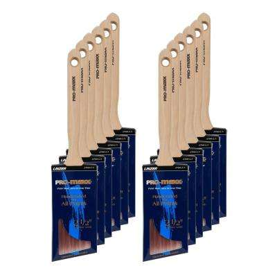 2.5 in. Angle Sash Extra Stiff Paint Brush (12-Pack)