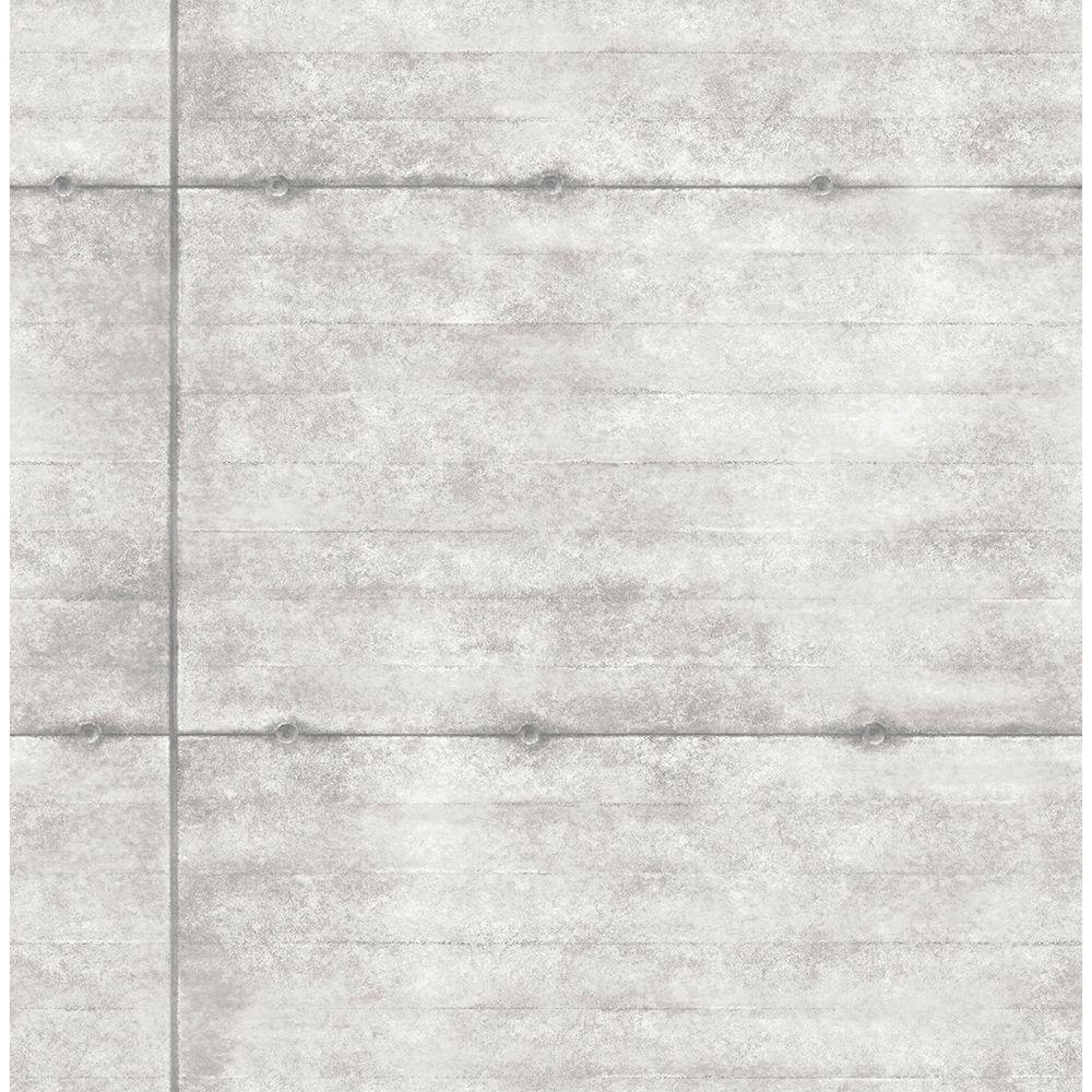 Light Grey Smooth Concrete Geometric Wallpaper