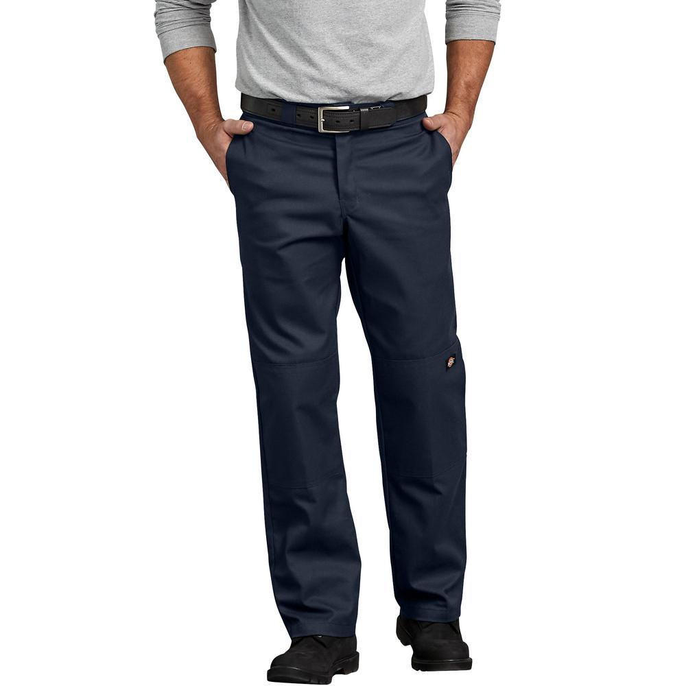65a079f6 Dickies Men's Dark Navy Flex Double Knee Twill Work Pant-WP882DN 30 ...