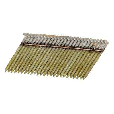 2 in. x 0.113-Gauge Wire 2M Galvanized Stainless-Steel Ring Shank 28-Degree Angled Framing Nails