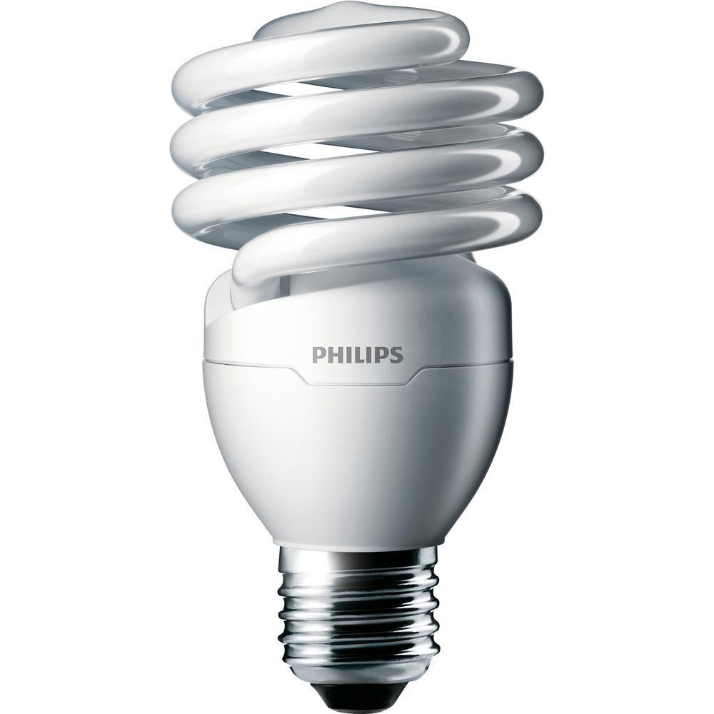 100-Watt Equivalent Cool White (4100K) T2 CFL Light Bulb