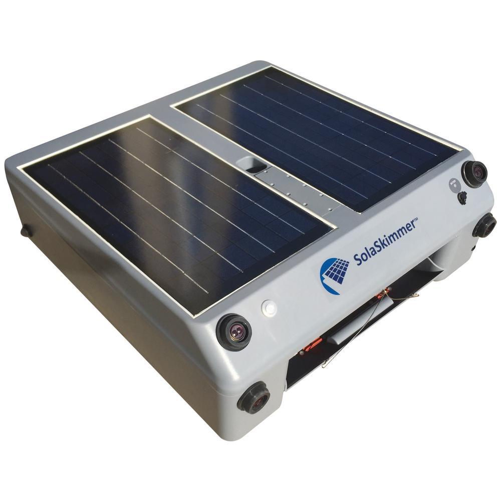 SolaSkimmer Solar-Powered Robotic Pool Skimmer