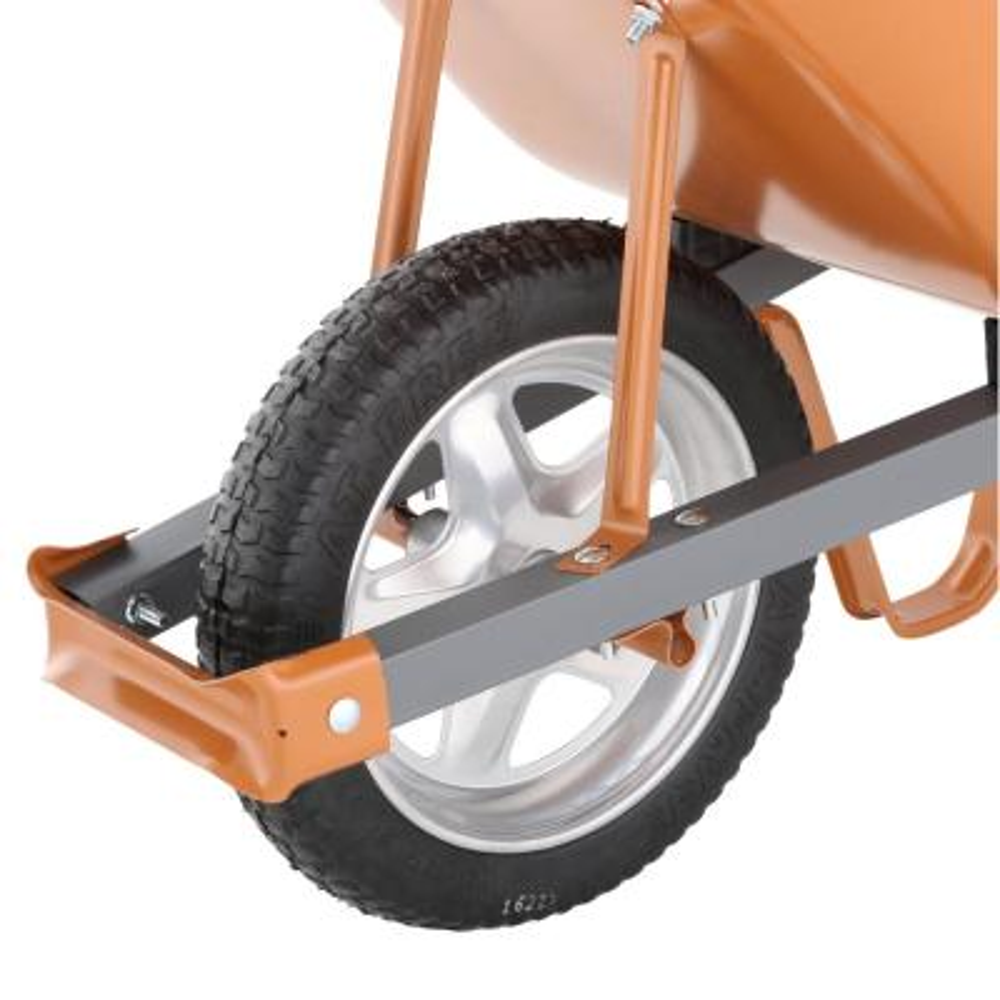 6 cu. ft. Wheelbarrow with Steel Handles and Flat Free Tire