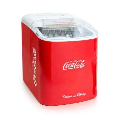 26 lb. Coca Cola Automatic Portable Ice Maker in Red