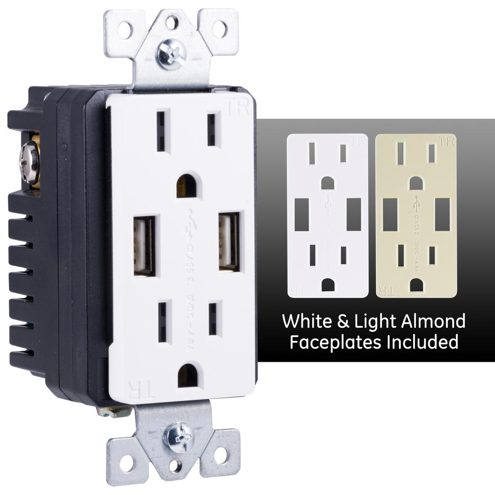 5 Pcs Ground Plug Adapter 3 Prong to 2 AC Outlet Grounding Individually Packaged