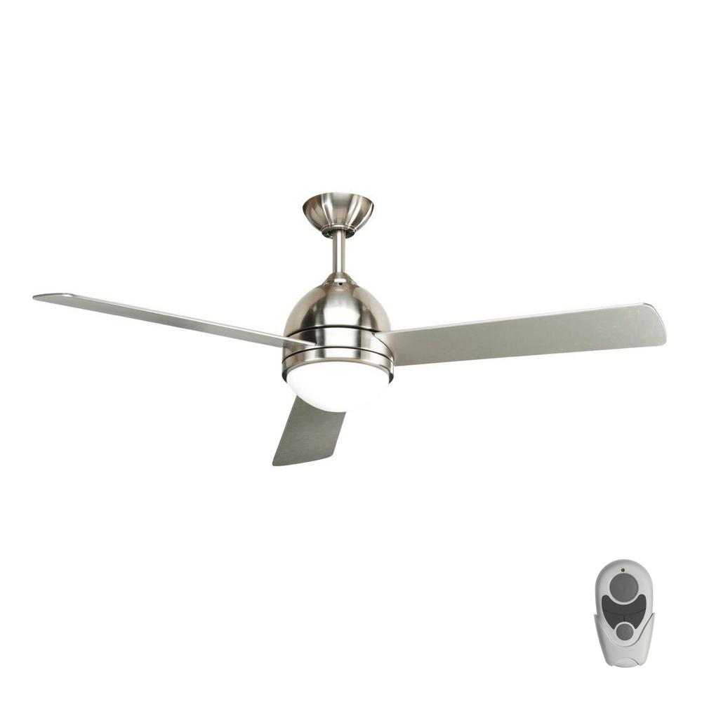 Trevina 52 in. Indoor Brushed Nickel Modern Ceiling Fan with Remote