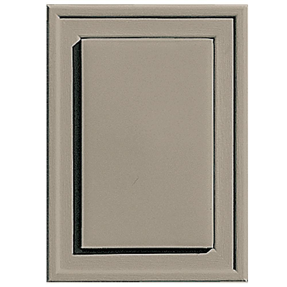 Builders Edge 4.5 in. x 6.3125 in. #097 Clay Raised Mini Mounting Block