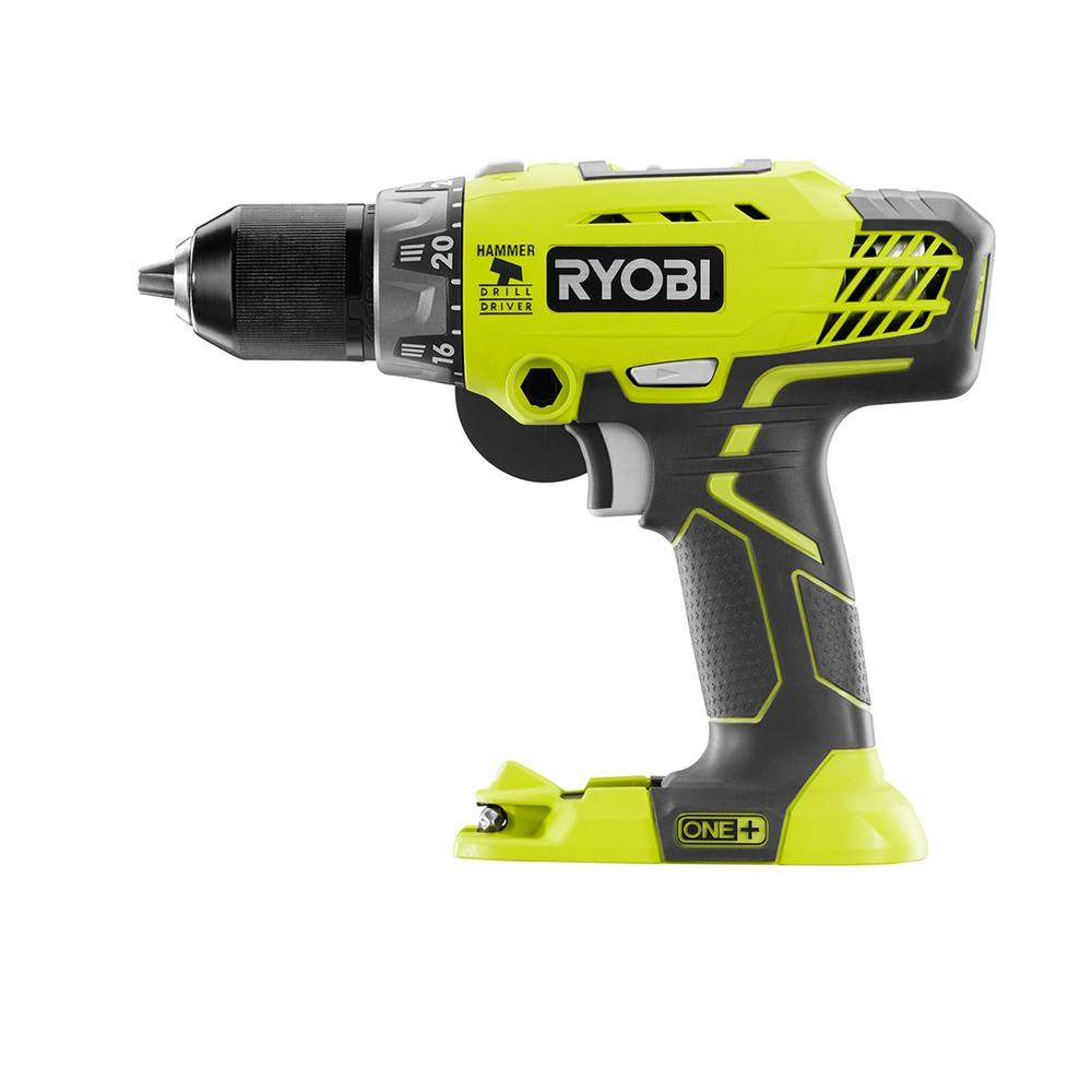 ryobi 18 volt one 1 2 in hammer drill tool only p214. Black Bedroom Furniture Sets. Home Design Ideas