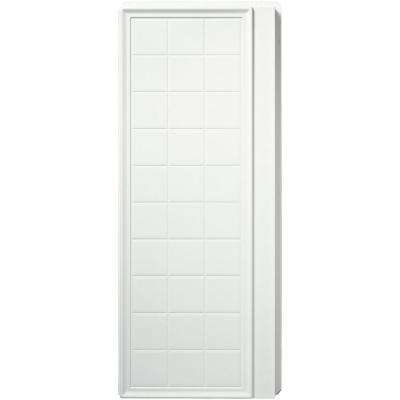 Ensemble 35-1/4 in. x 72-1/2 in. 2-piece Direct-to-Stud Shower End Wall Set with Backers in White
