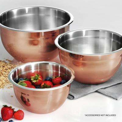 Limited Editions 3-Piece Copper Clad Mixing Bowls