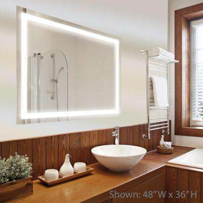 Led light vanity mirrors bathroom mirrors the home depot h led single wall mounted backlit vanity aloadofball Gallery