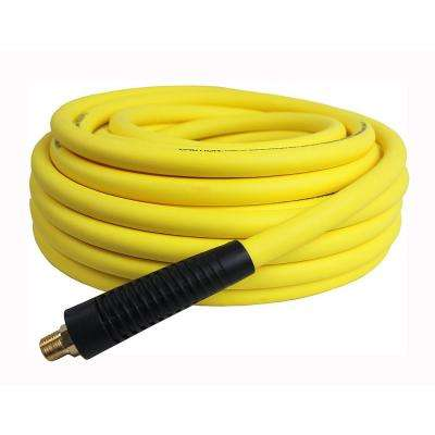 Hybrid Polymer Air Hose, 3/8 in. x 50 ft. Air Hose All Weather Lightweight No-Memory Non-Kinking 300 PSI Maximum