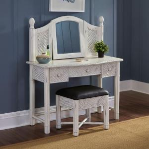 Home Styles Marco Island 2 Piece Weathered White Vanity