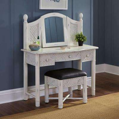 Marco Island 2-Piece Weathered White Vanity Set