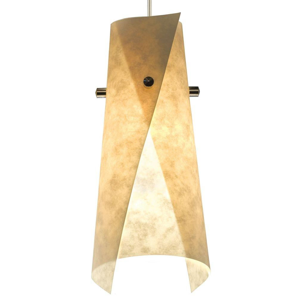 Juno 1-Light Parchment LED Wrap Pendant Kit