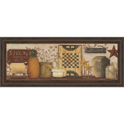 """18 in. x 42 in. """"Village Welcome"""" by Pam Britton Framed Printed Wall Art"""